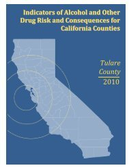 Tulare County 2010 - Alcohol and Drug Programs - State of California
