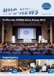 Treffen der HYDRA Users Group 2012 HUG-NEWS