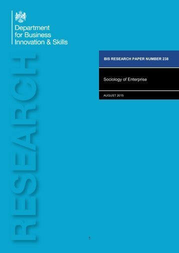 Sociology of Enterprise