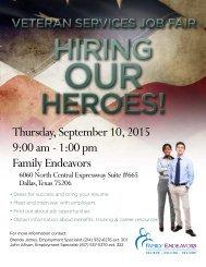 Thursday September 10 2015 9:00 am - 1:00 pm Family Endeavors