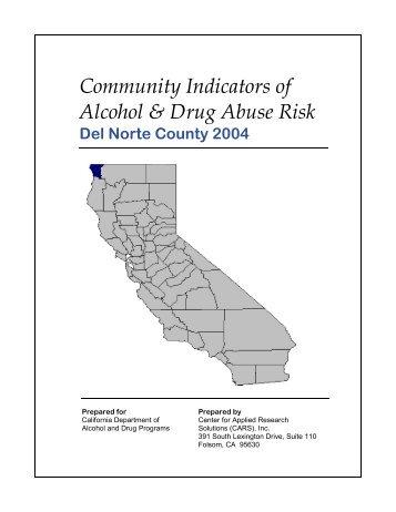 Community Indicators of Alcohol & Drug Abuse Risk