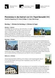 Pfarreireise in die Heimat von S.H Papst Benedikt XVI
