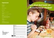 Die Fakten Kein Kind darf mehr an Mukoviszidose sterben!