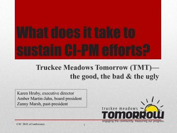 What does it take to sustain CI-PM efforts?