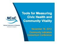 Tools for Measuring Civic Health and Community Vitality