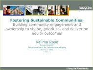 Fostering Sustainable Communities - Community Indicators ...