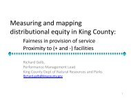 Measuring and mapping distributional equity in King County