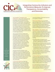 Education Brochure - Community Indicators Consortium