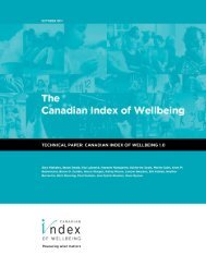 The Canadian Index of Wellbeing - Technical Paper - University of ...