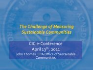 Sustainable Communities CIC e-Conference April 13  2011