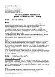 Huishoudelijk reglement - Vlaamse Actieve Senioren