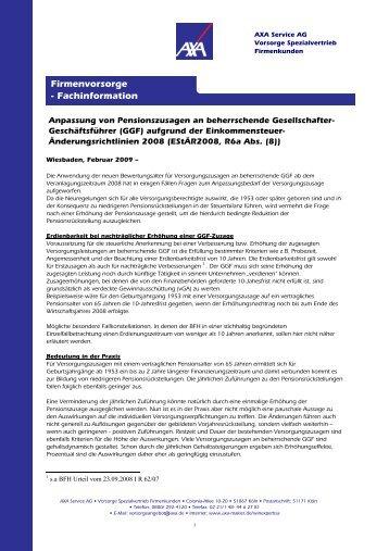 Firmenvorsorge - Fachinformation