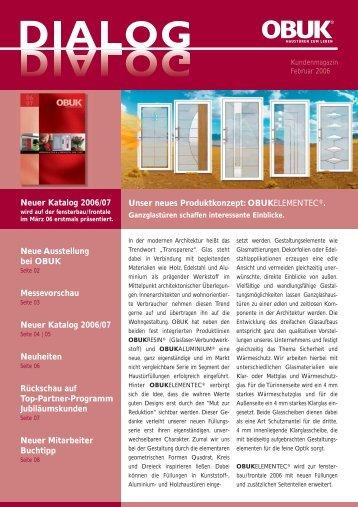 Neue Ausstellung bei OBUK Messevorschau Neuer Katalog 2006 ...