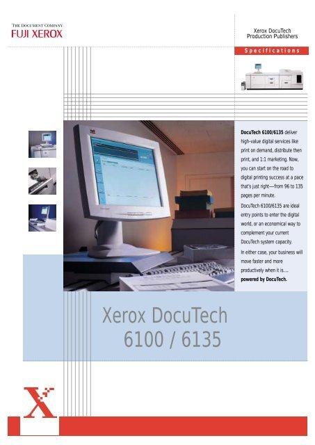 XEROX PRINTER DOCUTECH 6100 DRIVERS FOR PC