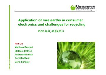 Application of rare earths in consumer electronics and challenges ...