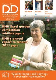 KNH's annual report to tenants 2011 KNH Excel garden competition winners