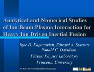 Interaction of Intense Ion Beam Pulses With a ... - Nonneutral Pppl