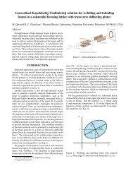 Generalized Kapchinskij-Vladimirskij solution for ... - Nonneutral Pppl