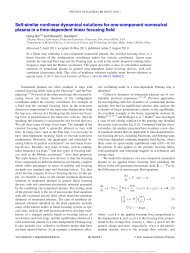 Self-similar nonlinear dynamical solutions for one ... - Nonneutral Pppl