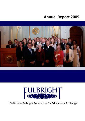 Annual Report 2009 - Fulbright.no