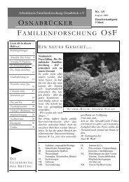 Heft 49 (Juli-Sept. 2001) - Arbeitskreises Familienforschung ...