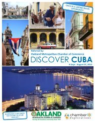 DISCOVER CUBA - Oakland Metropolitan Chamber of Commerce