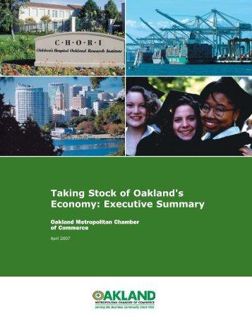 Executive Summary v6.indd - Oakland Metropolitan Chamber of ...
