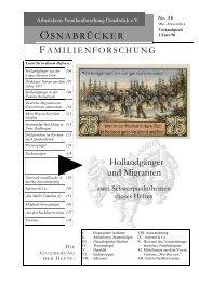 Heft 58 (Okt.-Dez. 2003) - Arbeitskreis Familienforschung Osnabrück