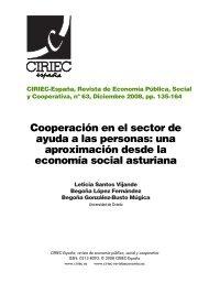 Cooperación en el sector de ayuda a las personas - CIRIEC ...