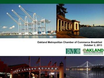 Oakland Metropolitan Chamber of Commerce Breakfast October 2 2013