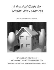 Landlord Tenant Guide - State of Michigan