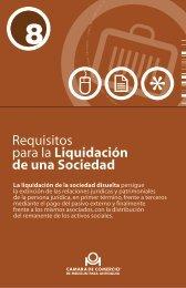 Requisitos para la liquidación de sociedades - Cámara de ...