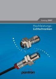 Hochleistungs- Lichtschranken - Pantron Instruments GmbH