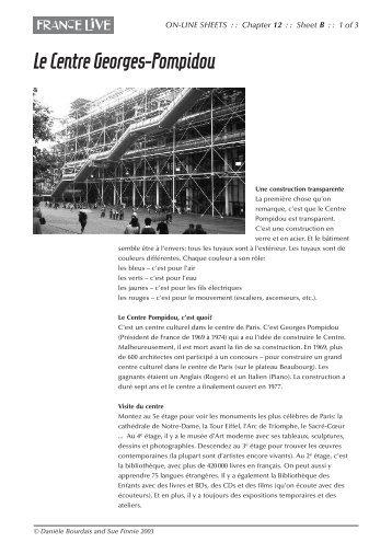 Le Centre Georges-Pompidou