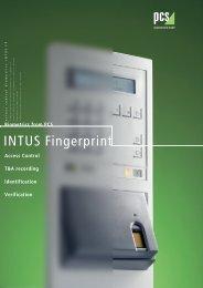 INTUS Fingerprint - PCS Systemtechnik GmbH