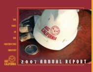 2007 Annual Report - Associated General Contractors of California
