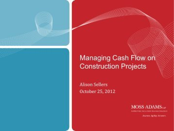 Managing Cash Flow on Construction Projects
