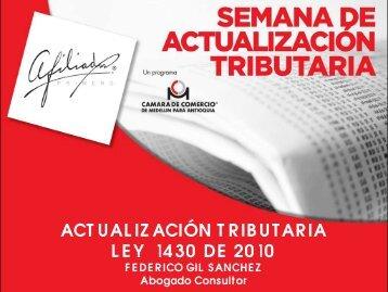 ACTUALIZACIÓN TRIBUTARIA LEY 1430 DE 2010