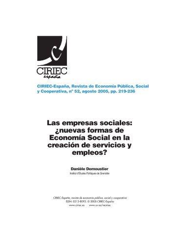 Las empresas sociales - CIRIEC-ESPAÑA | Revista de Economía ...