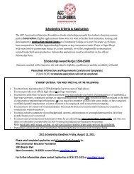 Scholarship Criteria & Application Scholarships Award Range $500-$5000
