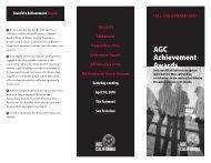 AGC Achievement Awards