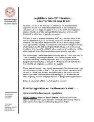 Legislature Ends 2011 Session… - Associated General Contractors ...