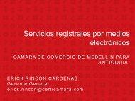 Servicios registrales por medios electrónicos