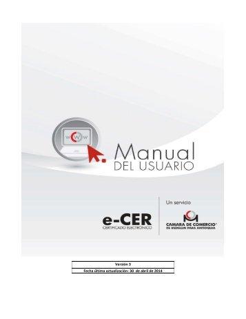 Manual de Usuario - Cámara de Comercio de Medellín para Antioquia