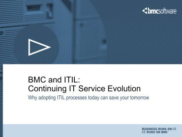 BMC and ITIL Continuing IT Service Evolution