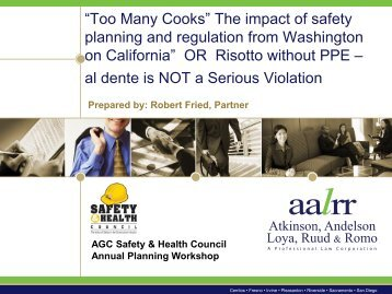 Too Many Cooks - Associated General Contractors of California
