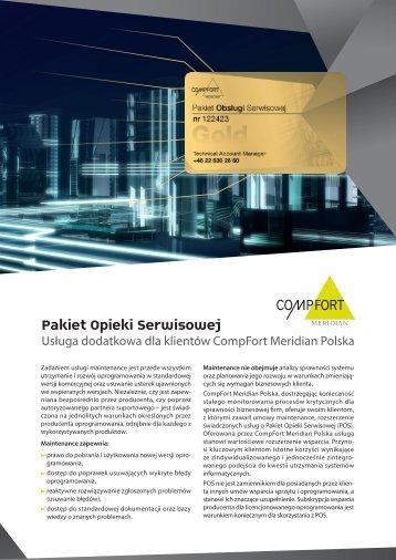 Pakiet Opieki Serwisowej - CompFort Meridian
