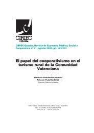 El papel del cooperativismo en el turismo rural de la Comunidad Valenciana