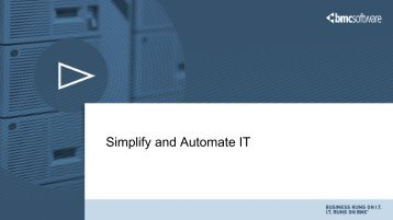 Simplify and Automate IT