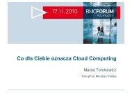 Co dla Ciebie oznacza Cloud Computing